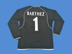 MANCHESTER UNITED 2000 2002 BARTHEZ 1 BLACK  LONG SLEEVES  JERSEY