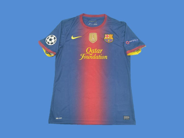 BARCELONA 2012 2013 UCL WORLD CHAMPIONS HOME JERSEY