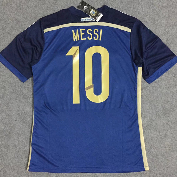 ARGENTINA 2014 MESSI 10 WORLD CUP AWAY  JERSEY