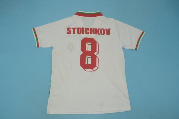 BULGARIA 1994 STOICHKOV 8 WORLD CUP HOME  JERSEY