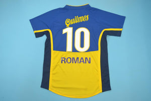 huge discount 81778 fdcc6 BOCA JUNIORS 2001 ROMAN RIQUELME 10 HOME FOOTBALL SHIRT ...