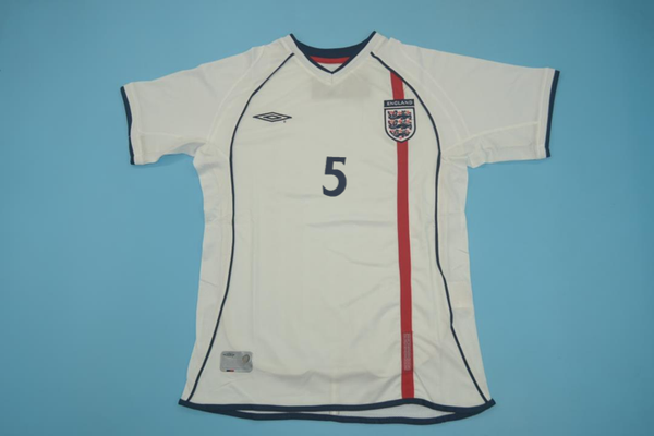 ENGLAND 2002 FERDINAND 5 WORLD CUP HOME  JERSEY