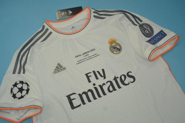 REAL MADRID 2013-2014 RONALDO 7 UEFA CHAMPIOS LEAGUE HOME JERSEY