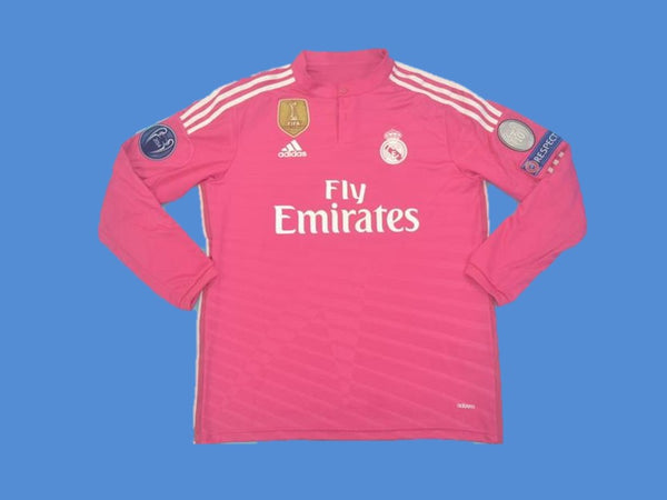 REAL MADRID 2014 2015 HOME JERSEY RONALDO 7 CHAMPIONS LEAGUE LONG SLEEVE