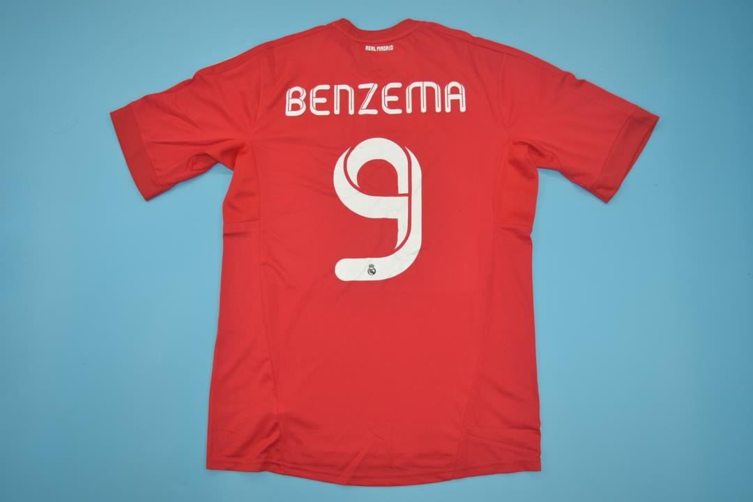 buy popular 1bc19 bd631 REAL MADRID 2011-2012 AWAY BENZEMA 9 SHORT SLEEVE FOOTBALL SHIRT JERSEY