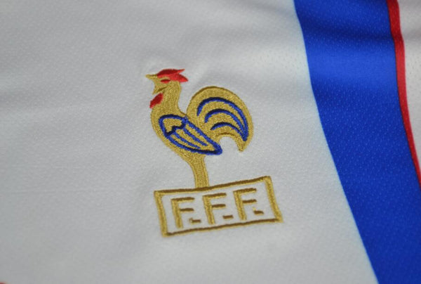 FRANCE 1996 EURO CUP PATCH ZIDANE 10 AWAY JERSEY
