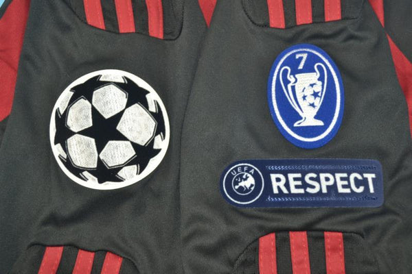 AC MILAN 2009 2010 LONG  SLEEVE UCL HOME JERSEY