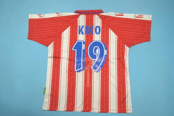 ATLETICO MADRID 1994 1995 KIKO 19 HOME JERSEY