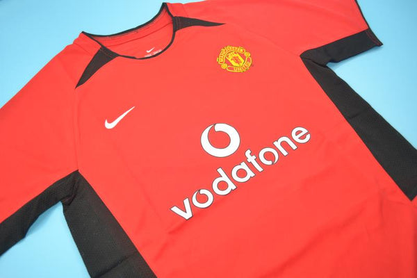 MANCHESTER UNITED 2002 2003 VERON 4  HOME JERSEY