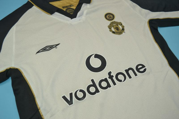 MANCHESTER UNITED 2001 2002  VERON 4  REVERSIBLE CENTENARY AWAY JERSEY