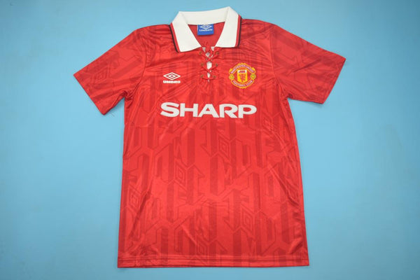 MANCHESTER UNITED 1994 HUGHES 10 HOME JERSEY