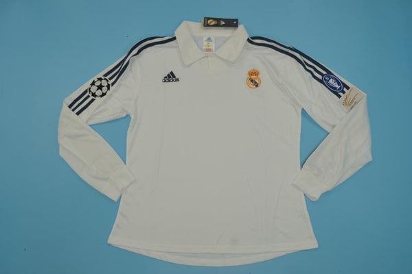 REAL MADRID 2002 UCL FINAL LONG SLEEVE HOME JERSEY