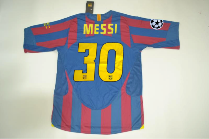fc barcelona 2006 messi 30 ucl final home jersey vintage jerseys vintage jerseys
