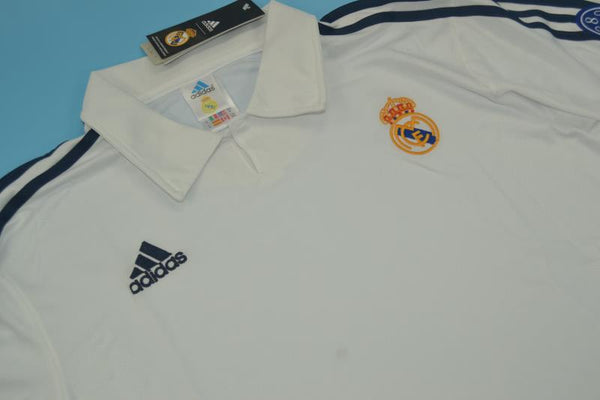 REAL MADRID 2002 RAUL 7 UCL FINAL LONG SLEEVE HOME JERSEY
