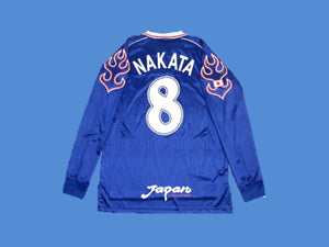 JAPAN 1998 WORLD CUP NAKATA 8 LONG SLEEVE HOME JERSEY