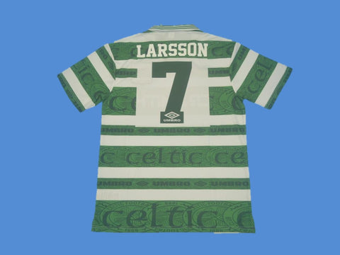 CELTIC 1995 1997 LARSSON 7 HOME  JERSEY