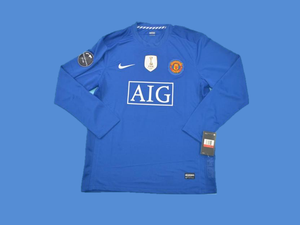 MANCHESTER UNITED 2007 2008 LONG SLEEVE AWAY JERSEY WORLD CHAMPIONS