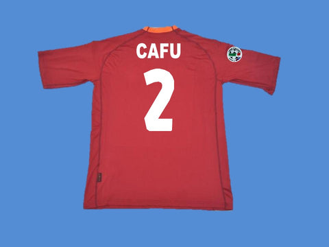 AS ROMA 2000 2001 CAFU 2 HOME  JERSEY