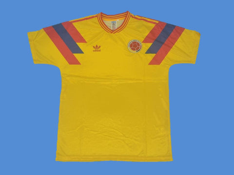 COLOMBIA 1990 WORLD CUP HOME YELLOW JERSEY