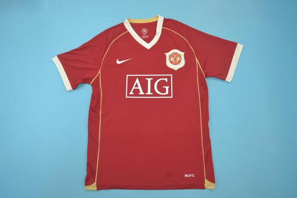 MANCHESTER UNITED 2006 SCHOLES 18 HOME JERSEY