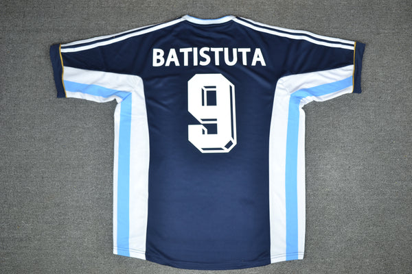ARGENTINA 1998 BATISTUTA 9 WORLD CUP AWAY  JERSEY