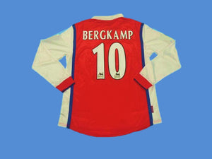 ARSENAL 1998 1999 BERGKAMP 10 LONG SLEEVE HOME JERSEY