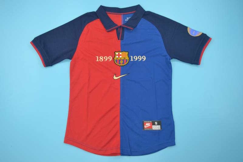 online retailer a7424 eac32 FC BARCELONA 1999 HOME FOOTBALL 100 YEARS SHIRT JERSEY CAMISETA