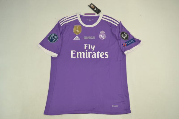 REAL MADRID 2016-2017 MODRIC 19 UEFA CHAMPIOS LEAGUE AWAY JERSEY