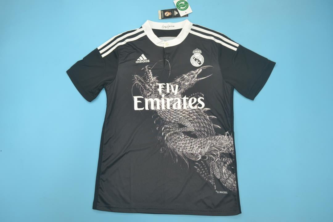 online retailer 13175 3f578 REAL MADRID 2014-2015 AWAY BLACK FOOTBALL SHIRT JERSEY