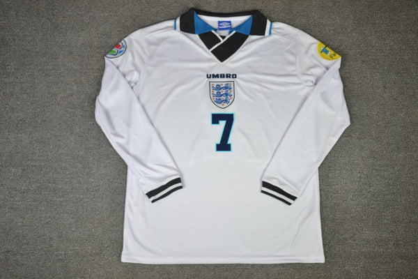 ENGLAND 1996 BECKHAM 7 LONG SLEEVE HOME  JERSEY