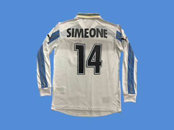 LAZIO 1999 2000 HOME SIMEONE 14 JERSEY LONG SLEEVE