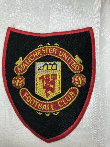MANCHESTER UNITED 1997 1998 1999  AWAY  WHITE JERSEY