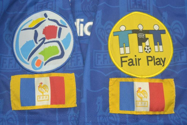 FRANCE 1996 EURO CUP PATCH ZIDANE 10 HOME JERSEY