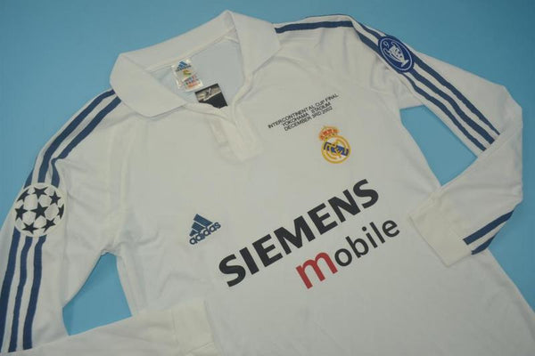 REAL MADRID 2002 2003 INTERCONTINENTAL CUP  LONG SLEEVE JERSEY