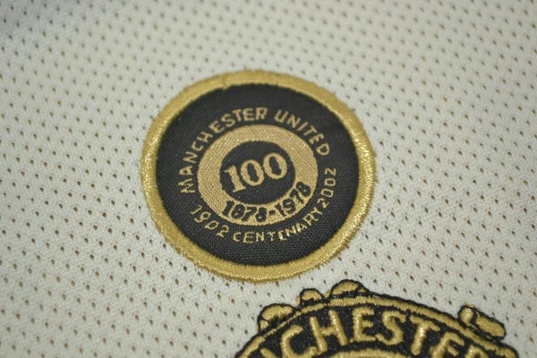 MANCHESTER UNITED 2001 2002  SCHOLES 18 REVERSIBLE CENTENARY AWAY JERSEY