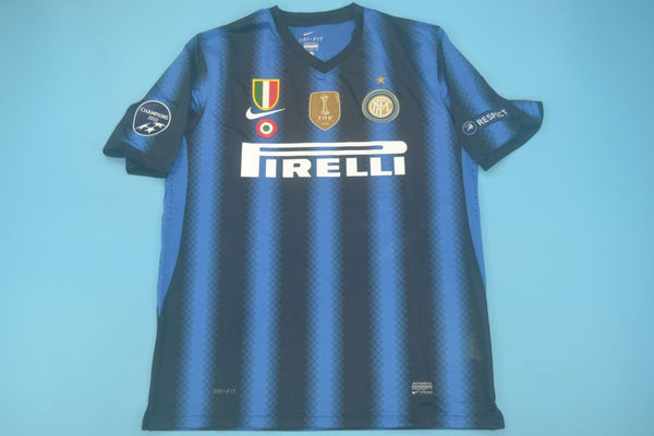 INTER MILAN 2010 2011 HOME JERSEY CHAMPIONS PATCHES