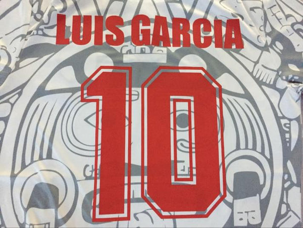 MEXICO 1998 LUIS GARCIA 10 WORLD CUP AWAY JERSEY