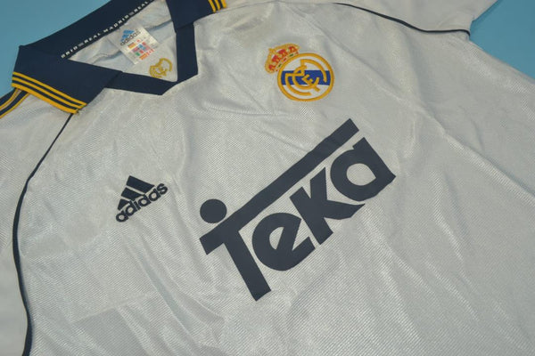 REAL MADRID 1999 2000 MORIENTES 9  HOME JERSEY