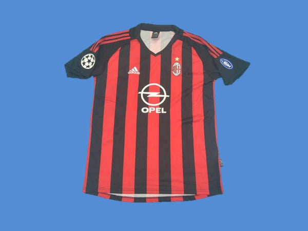 AC MILAN 2002 2003 UEFA CHAMPIONS LEAGUE HOME JERSEY