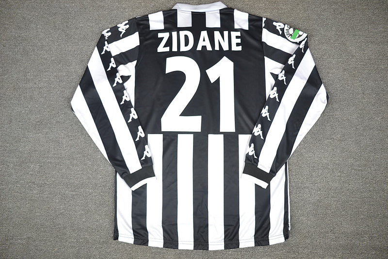 Juventus 1999 2000 Zidane 21 Long Sleeve Home Jersey Vintage Jerseys