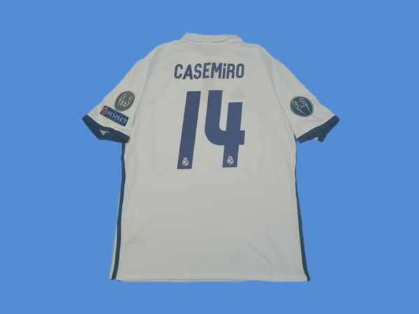 REAL MADRID 2016 2017 CASEMIRO 14 UCL HOME JERSEY