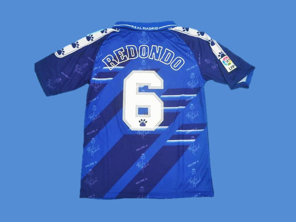 REAL MADRID 1994 1996 REDONDO 6 AWAY JERSEY