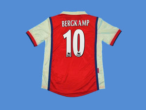 ARSENAL 1998 1999 BERGKAMP 10 HOME JERSEY