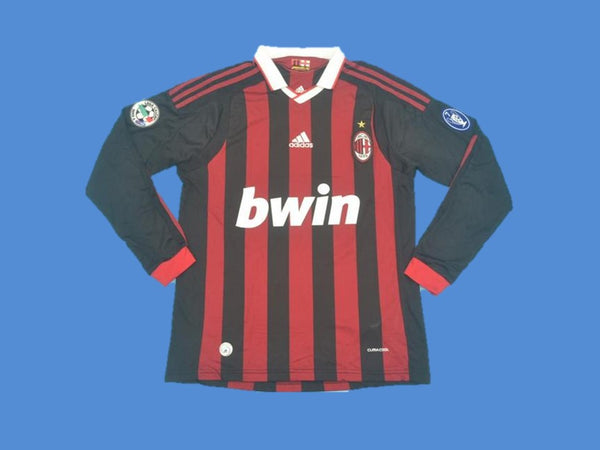 AC MILAN 2009 2010 LONG SLEEVE SERIE A HOME JERSEY