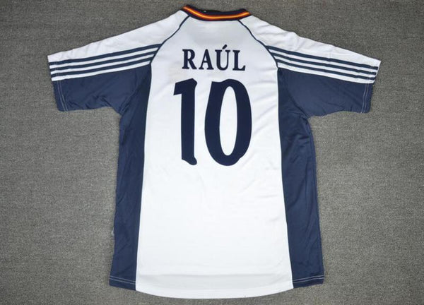 SPAIN 1998 RAUL 10 WORLD CUP AWAY JERSEY