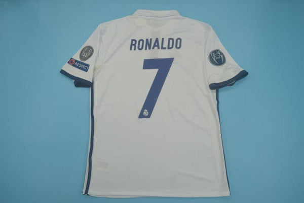 REAL MADRID 2016 2017 RONALDO 7 UCL HOME JERSEY