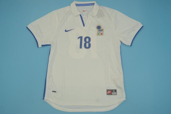 ITALY 1998 BAGGIO 18 AWAY JERSEY