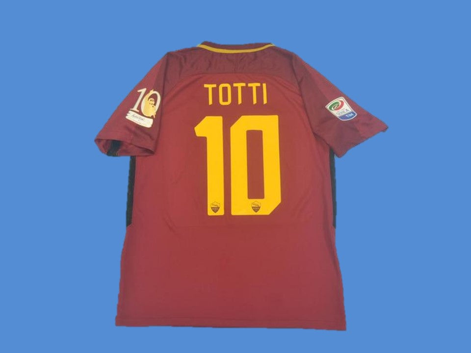 AS ROMA 2017 2018 TOTTI 10 LAST MACH HOME JERSEY