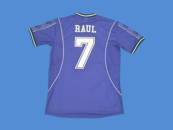 REAL MADRID 1997 1998 RAUL 7 AWAY JERSEY