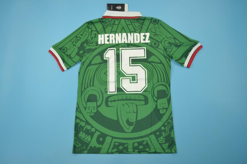 0ff0535a5 MEXICO 1998 WORLD CUP HERNANDEZ 15 HOME FOOTBALL SHIRT SOCCER JERSEY  PLAYERA ...